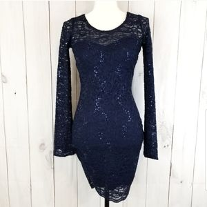 3/$20 💎 My Michelle Navy Lace Sequin Dress